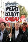Huelga del retiro en París Imagenes de archivo