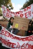 Huelga del retiro en París Imagen de archivo
