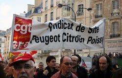 Huelga del retiro en París Foto de archivo