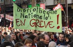 Huelga del retiro en París Fotos de archivo libres de regalías