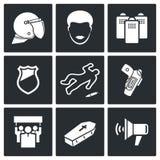 Huelga después de matar al sistema del icono Imagen de archivo libre de regalías
