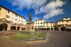 Huelga en el monumento de Chianti a Giovanni da Verrazzano Fotos de archivo libres de regalías