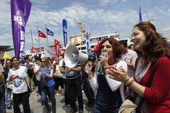 Huelga en Estambul, Turquía Imagenes de archivo