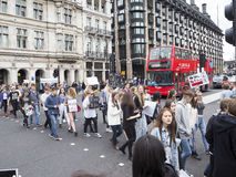 Huelga en Westminster, Londres Imagenes de archivo