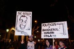 huelga europea general 14N Fotos de archivo libres de regalías