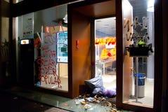 huelga europea general 14N Foto de archivo libre de regalías