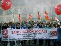 Huelga francesa de los trabajadores Foto de archivo libre de regalías