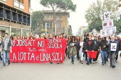Huelga general contra el gobierno en Italia Imagen de archivo libre de regalías