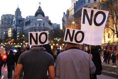 Huelga general en España Imágenes de archivo libres de regalías