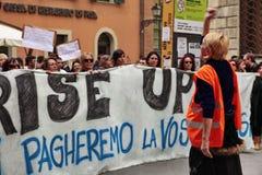 Huelga general europea Fotografía de archivo libre de regalías