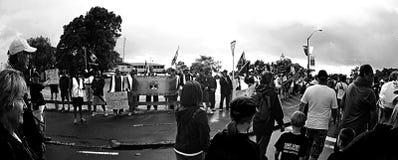 Huelga marítima de Nueva Zelanda de la unión Fotos de archivo libres de regalías