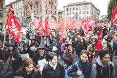 Huelga nacional del turismo en Milán en octubre, 31 2013 Fotografía de archivo libre de regalías