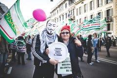 Huelga nacional del turismo en Milán en octubre, 31 2013 Fotos de archivo