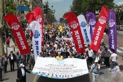 Huelga pública turca de los trabajadores Fotografía de archivo libre de regalías