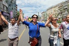Huelga pública turca de los trabajadores Imagen de archivo