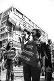 Huelga para las explosiones de la bomba de la reunión de la paz de Ankara Fotografía de archivo