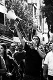 Huelga para las explosiones de la bomba de la reunión de la paz de Ankara Imagenes de archivo