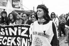 Huelga para las explosiones de la bomba de la reunión de la paz de Ankara Fotos de archivo