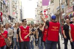 Huelga para las explosiones de la bomba de la reunión de la paz de Ankara Imagen de archivo