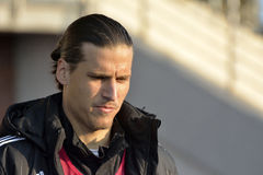 Huelguista Aleksandar Prijovic de Legia Varsovia imagenes de archivo