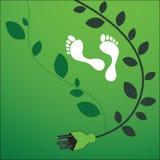Huella ambiental libre illustration