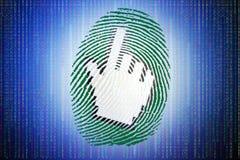 Huella dactilar de Digitaces Imágenes de archivo libres de regalías