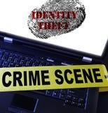 Huella dactilar del hurto de identidad Imagenes de archivo