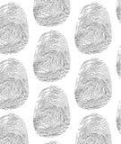huella dactilar del modelo Fotos de archivo libres de regalías