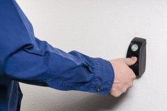 Huella dactilar necesaria para abrir la puerta Imágenes de archivo libres de regalías