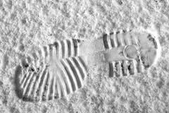 Huella de la nieve Fotografía de archivo