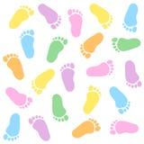 Huella del bebé stock de ilustración