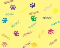Huella del gato Imagen de archivo libre de regalías