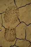 Huella del zapato en fango Imagenes de archivo