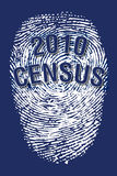 Huella digital 2010 del censo ilustración del vector