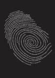 Huella digital de Digitaces,   Fotografía de archivo libre de regalías