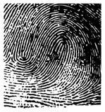 Huella digital del vector Imágenes de archivo libres de regalías