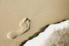 Huella en arena fotografía de archivo libre de regalías