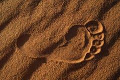 Huella en la arena Foto de archivo libre de regalías