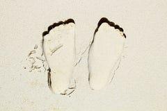 Huella en la arena Foto de archivo