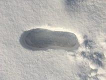 Huella en la nieve fotografía de archivo libre de regalías