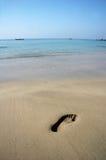 Huella en una playa imagen de archivo libre de regalías