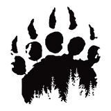Huella, impresión de la pata de oso ilustración del vector