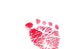 Huella roja Foto de archivo libre de regalías