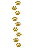 Huellas animales que van hacia arriba Foto de archivo libre de regalías