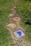 Huellas coloridas Foto de archivo libre de regalías