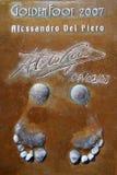 Huellas de Del Piero Imagen de archivo libre de regalías