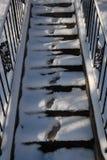 Huellas de la nieve Fotos de archivo
