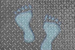 Huellas del agua en el metal Imágenes de archivo libres de regalías