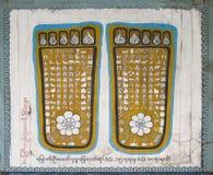 Huellas del Buddha Foto de archivo libre de regalías