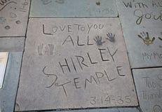 Huellas del templo de Shirley fotografía de archivo libre de regalías